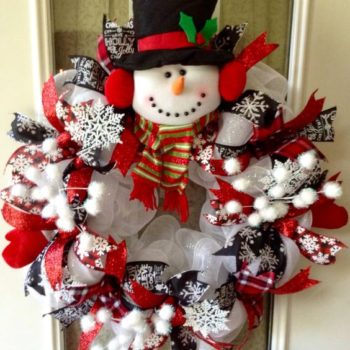 20+ DIY Snowman Wreaths For You