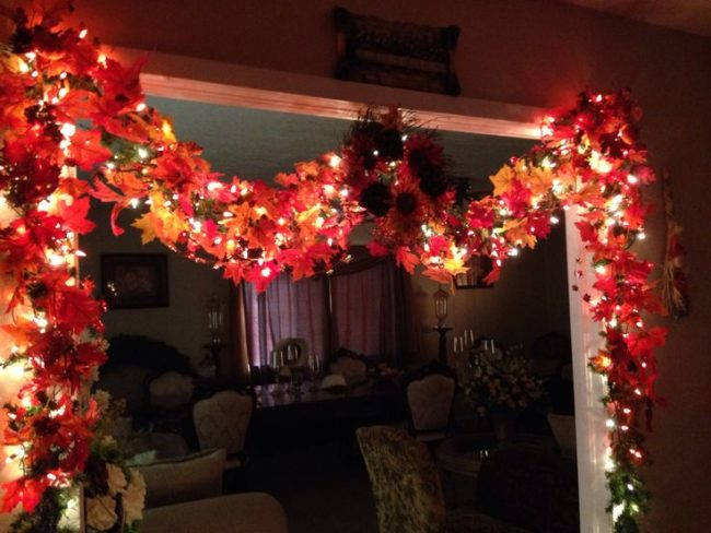 Fall Garland with Lights
