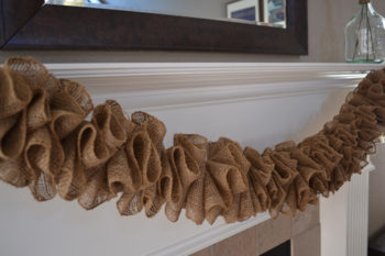 How to Make a Burlap Garland