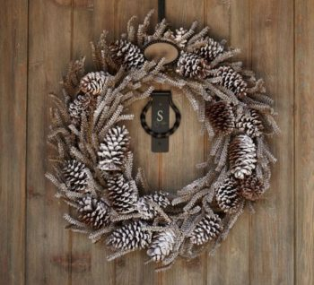 Making a Pinecone Wreath