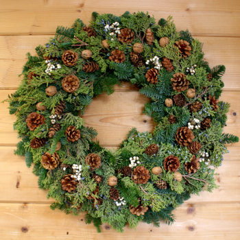 How To Make A Pinecone Wreath On A Wire Frame Inhabit Zone