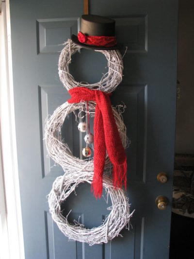 Snowman Door Wreath