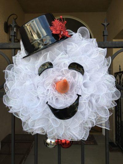 Diy Snowman Wreaths For You Inhabit Zone