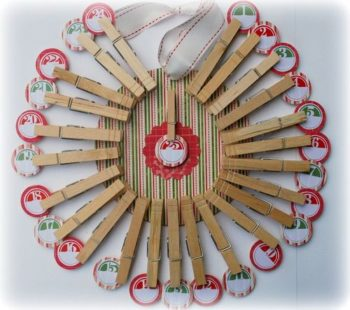 Clothespin wreath directions