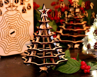 3d Wooden Twig Christmas Tree