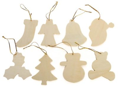 Blank Wooden Christmas Tree Decorations
