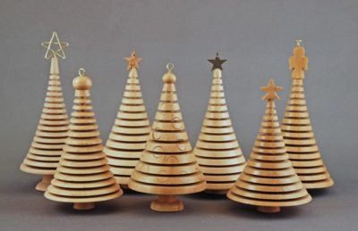 cheap wooden christmas tree decorations
