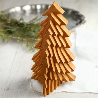 Collapsible Wooden Christmas Tree