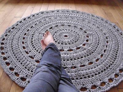 Crochet Round Floor Rug Pattern