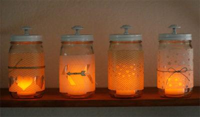 DIY Mason Jar Candle Lanterns