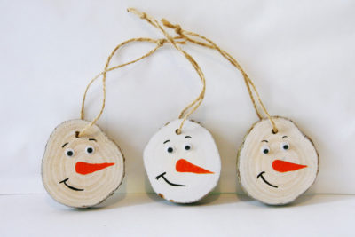DIY Wooden Christmas Tree Ornaments