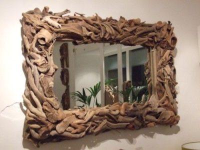 Driftwood Framed Mirror