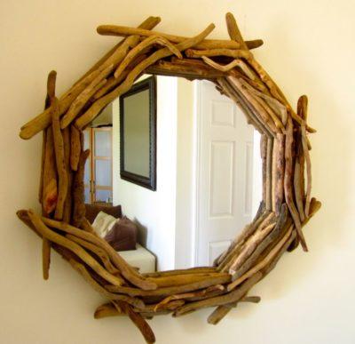 Driftwood Nautical Mirror
