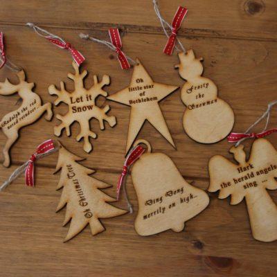 Handmade Wooden Christmas Tree Ornaments