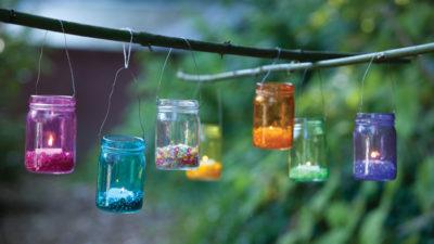 Hanging Mason Jar Lanterns DIY