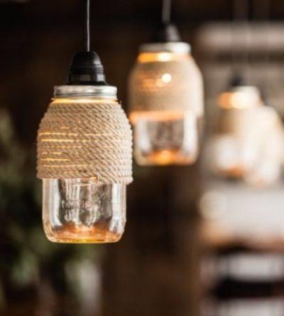 Homemade Mason Jar Lanterns