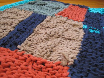 Knitted T Shirt Rug