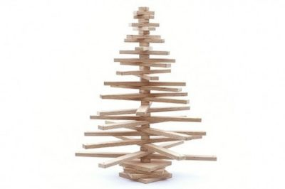 Large Wooden Christmas Tree