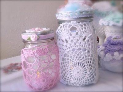 Mason Jar Doily Lanterns