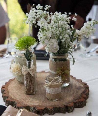 Mason Jar Lantern Centerpieces