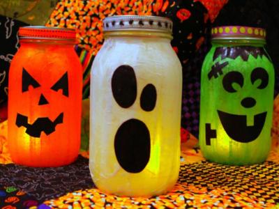 Mason Jar Lanterns For Halloween