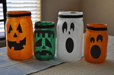 Mason Jar Lanterns Mod Podge