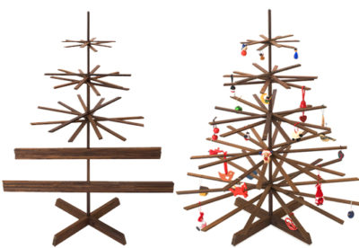 Natural Wooden Christmas Tree Decorations