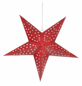 Paper Lantern with Star Cutouts