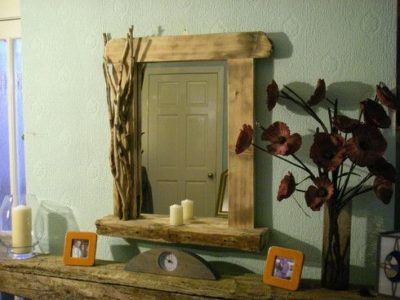 Rustic Driftwood Mirror