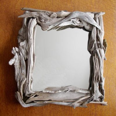 Small Driftwood Mirror