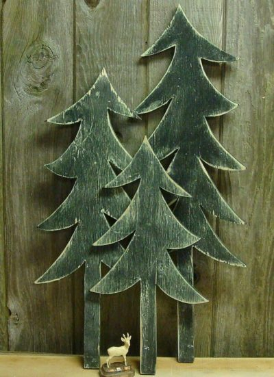 Vintage Wooden Christmas Tree