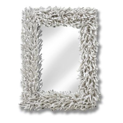 White Driftwood Mirror