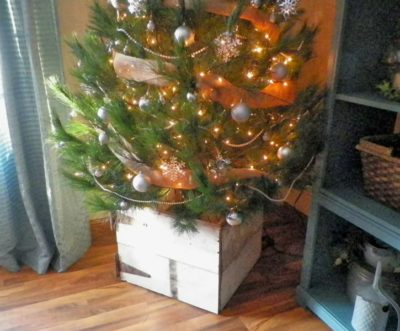 Wooden Box For Christmas Tree