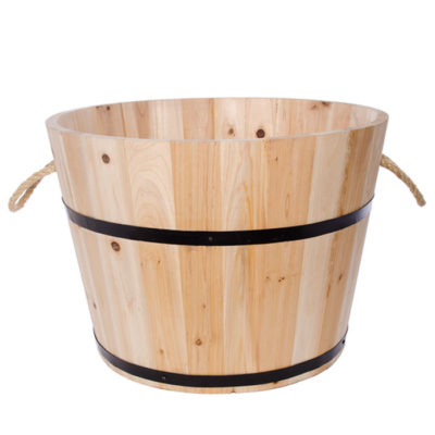 Wooden Bucket For Christmas Tree