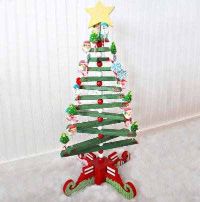 Wooden Christmas Tree Craft