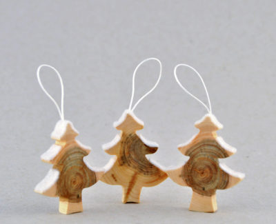 Wooden Christmas Tree Decorations Craft