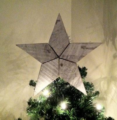 Wooden Christmas Tree Star