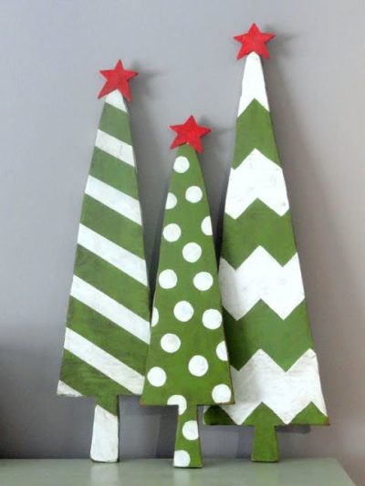 wooden christmas tree to paint