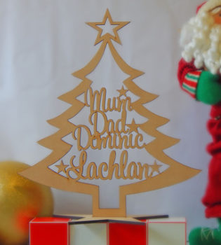 Wooden Christmas Tree With Names