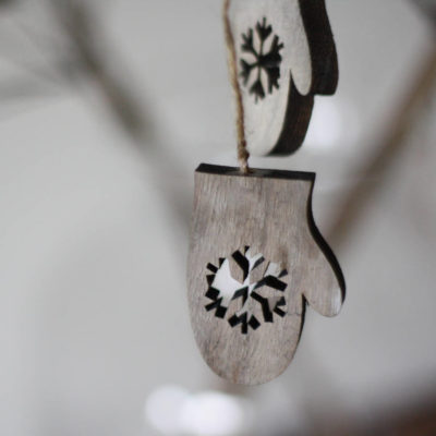 Wooden Hanging Christmas Tree Decorations