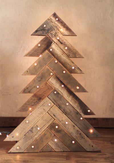 Wooden Light Up Christmas Tree