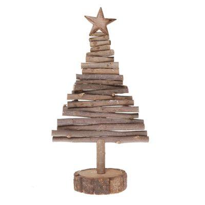 Wooden Log Christmas Tree