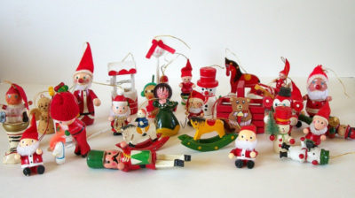 Wooden Toy Christmas Tree Ornaments