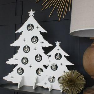 Wooden White Christmas Tree