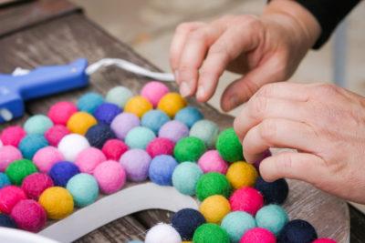 How to Make a Felt Ball Rug