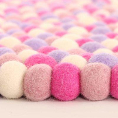 Marshmallow Felt Ball Rug