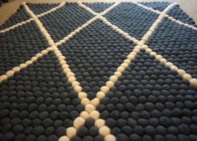 Wool Felt Ball Rug