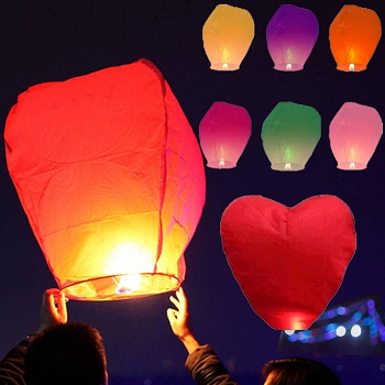Chinese flying paper lanterns