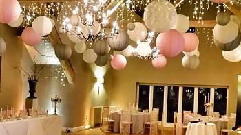 Chinese hanging paper lanterns