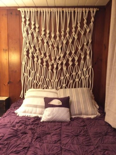 Macramé Wall Hanging above Bed